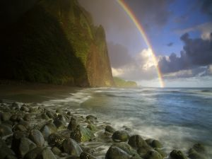 Rainbow in the coast