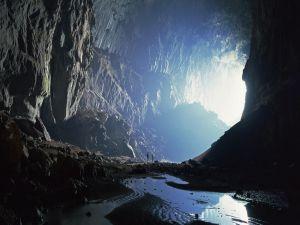 Visit a large cave