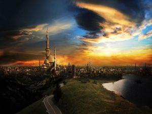 Road to a fantasy city