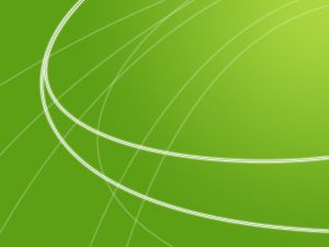 Green background with curved lines