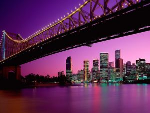 Story Bridge at night from Brisbane (Australia)
