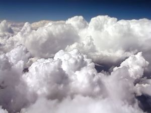 Above of white clouds