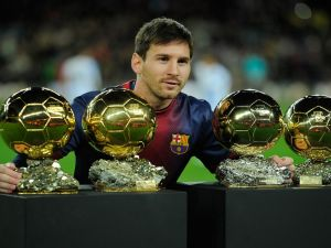 Lionel Messi and his Golden Balls