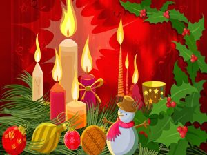 Decorative elements for Christmas and New Year