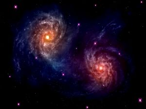 Two nearby galaxies