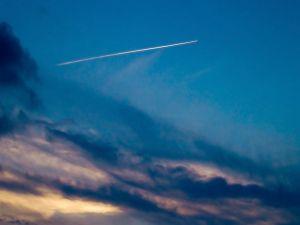 White line in the sky