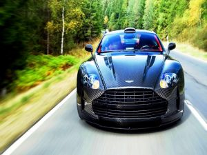 Aston Martin car on the road