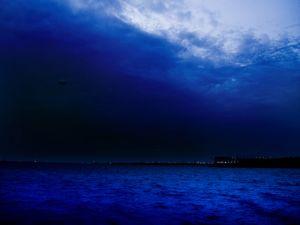 Nightly landscape in blue
