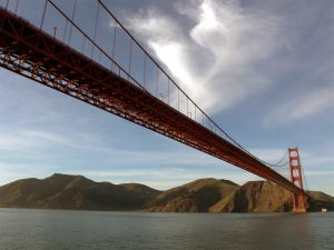 The Golden Gate seen from the water