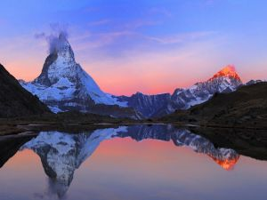 Beautiful views at sunrise
