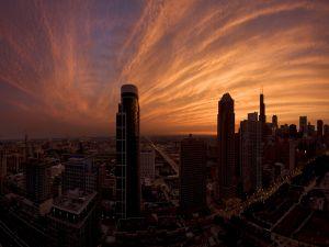 Nice sky over the city