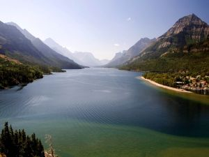 Lake in Waterton Lakes National Park, Canada