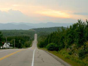 Downhill road