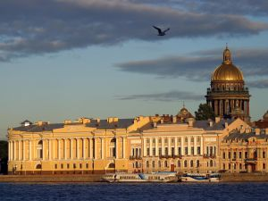 View of Saint Petersburg and the Neva river (Russia)