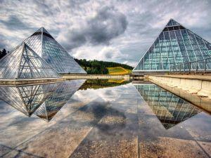 Glass pyramids