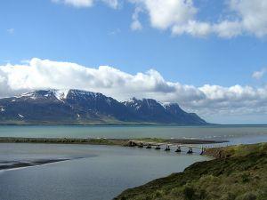 Small bridge near the mountains