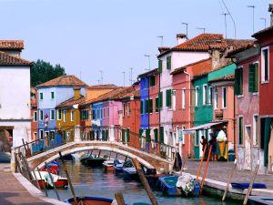 Small bridge in Burano, Venice