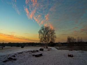 Some snow at sunrise
