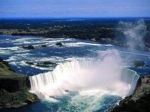 Aerial view of Niagara Falls, Ontario