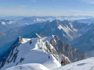 Mountaineers in the Mont Blanc