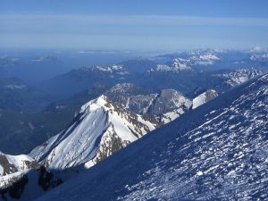 One of the views from the summit of Mont Blanc