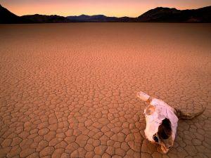 Dry lake Racetrack Playa in California