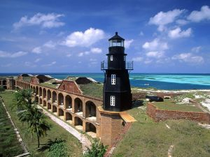 Lighthouse in Fort Jefferson, Florida
