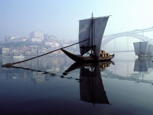 Rabelo boat on the Douro river, Portugal