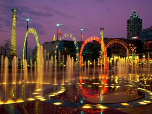 Fountain of Rings in the Centennial Olympic Park, Atlanta