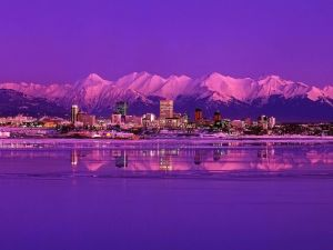 The city of Anchorage, Alaska