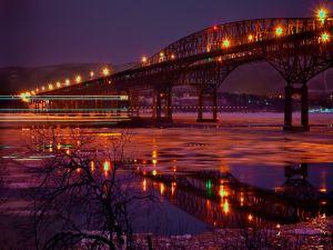 Frozen water under the bridge