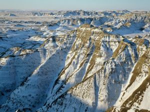 Badlands National Park in Winter, South Dakota