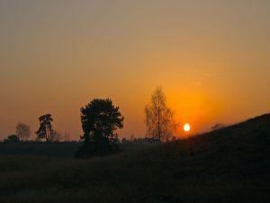 The orange sun