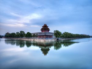 One of the four towers of the Forbidden City, Beijing