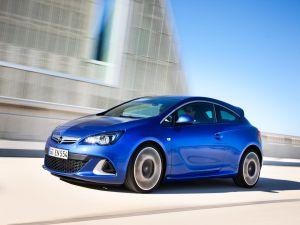 Opel Astra GTC blue