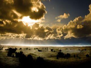 Big clouds hiding the sun