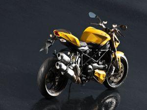 Yellow Ducati