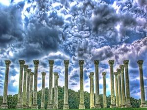 Stone columns under the storm