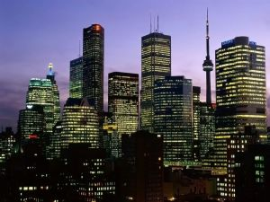 Night in Toronto city