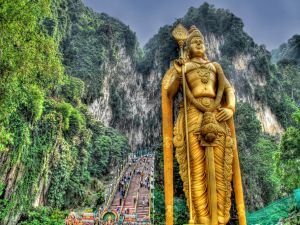 Statue of Lord Murugan at Batu Caves, Malaysia