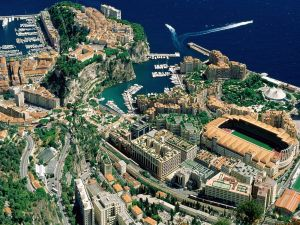 Aerial view of Principality of Monaco