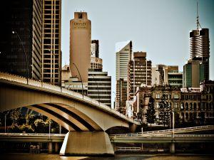 A bridge in the city