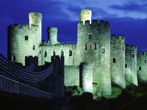 Night at Conwy Castle, Wales