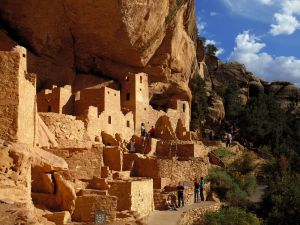 Visit at Cliff Palace at Mesa Verde National Park, Colorado