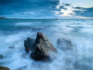 Waves, sea and rocks