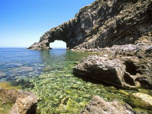 Stone arch formed at sea