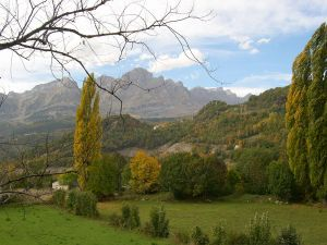 View of Valle de Tena, in the province of Huesca (Aragón, Spain)