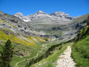Soaso Circus and Monte Perdido massif, in the valley of Ordesa (Spain)