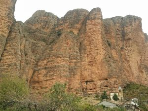 The church of Riglos next to the Mallos