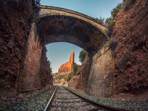 Bridge over the track (Riglos, Spain)